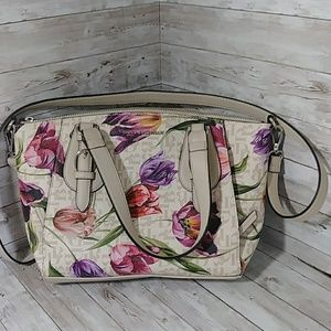 Shoulder floral purse